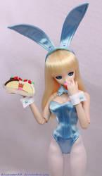 Blue BunnyGirl Cake 2 by AnimatorAR