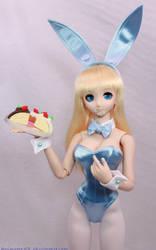 Blue BunnyGirl Cake 3 by AnimatorAR