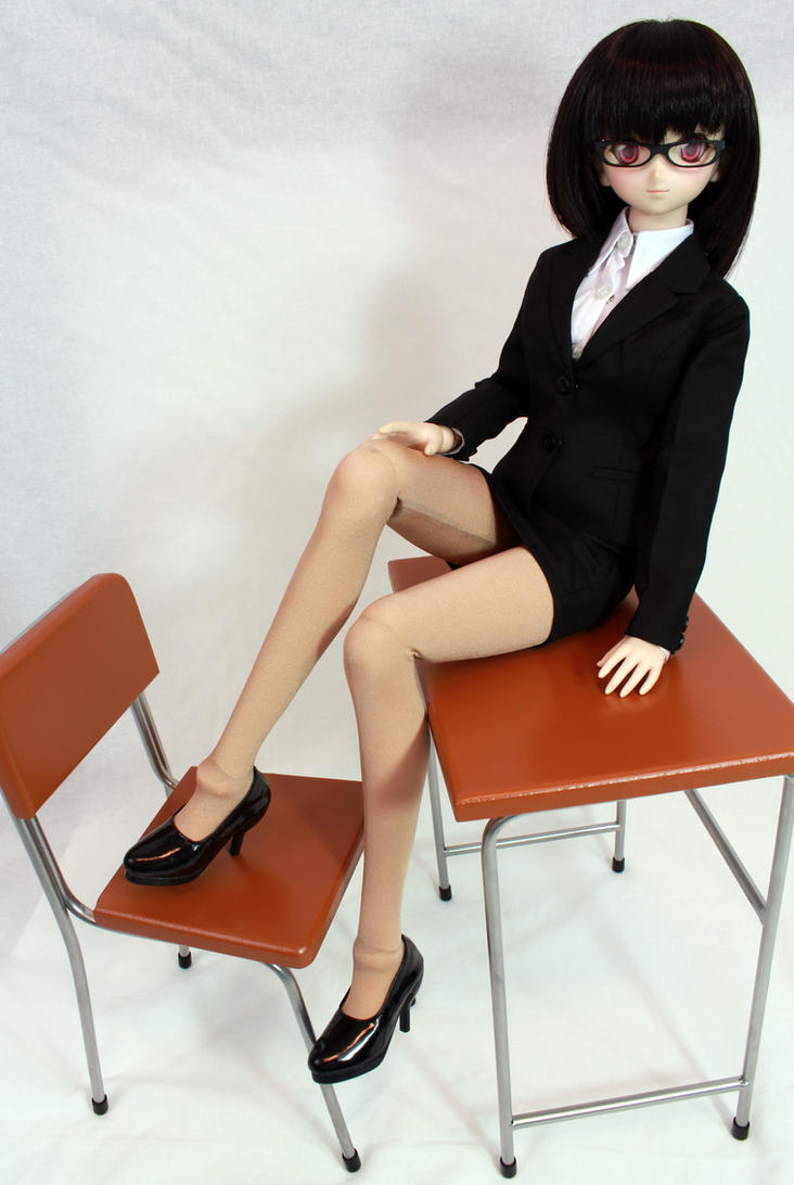 Sharon the Teacher sitting on School Desk by AnimatorAR