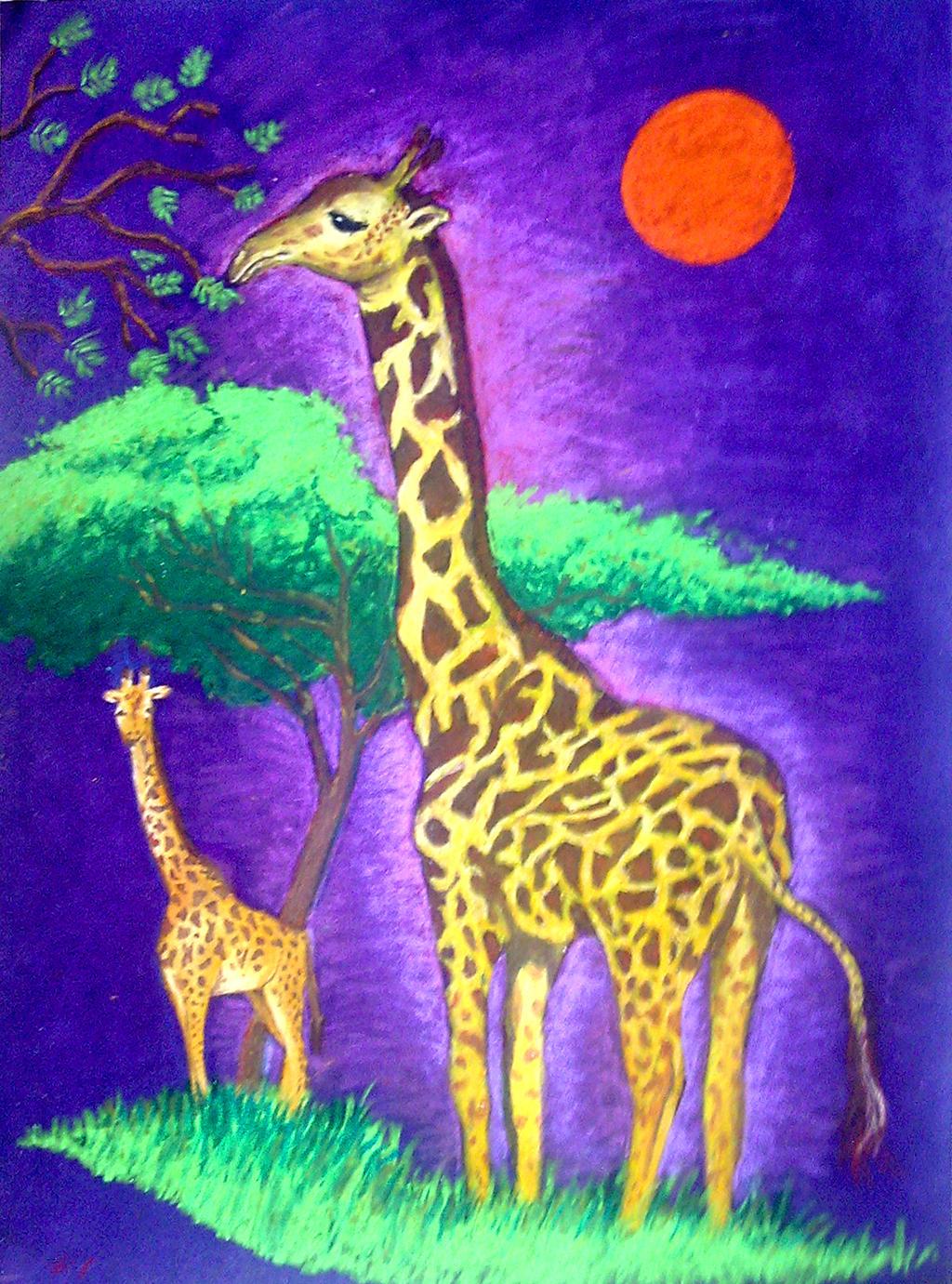 Giraffe by partypao