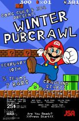 Coms Guild Pubcrawl poster