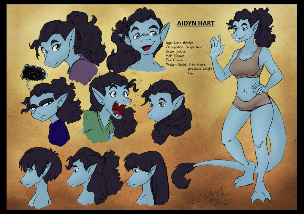 Aidyn Hart - Character Design by BethanyAngelstar
