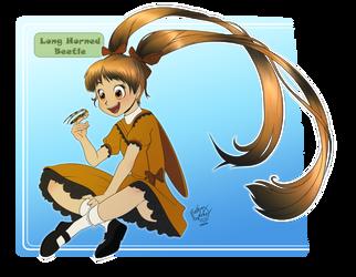 Anime Girl Design - Long Horned Beetle