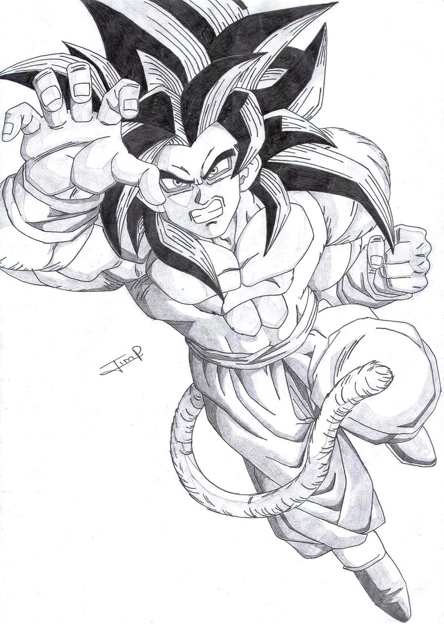 GOKU SSJ4 A LAPIZ by ~MUERTITO69 on deviantART