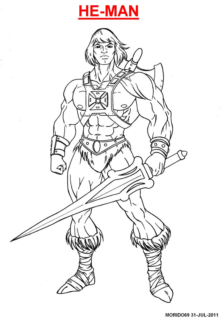 He Man Coloring Book Pages Sketch Coloring Page