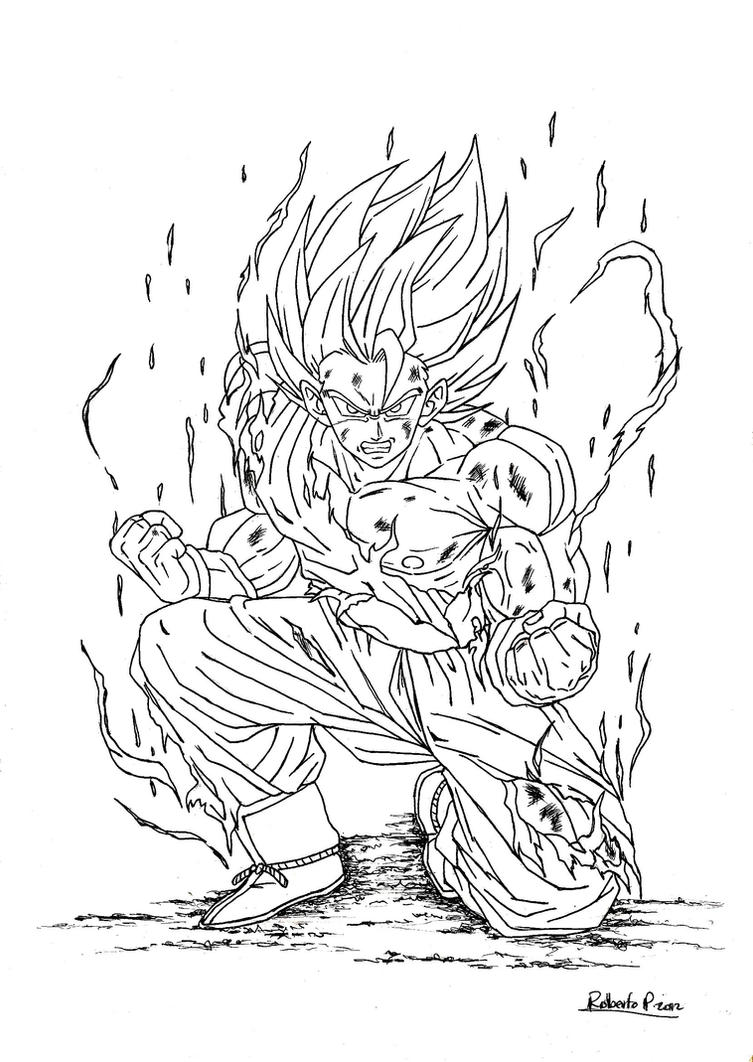 GOKU SUPER SAIYAJIN-DRAGON BALL Z (INK) by MUERTITO69 on DeviantArt