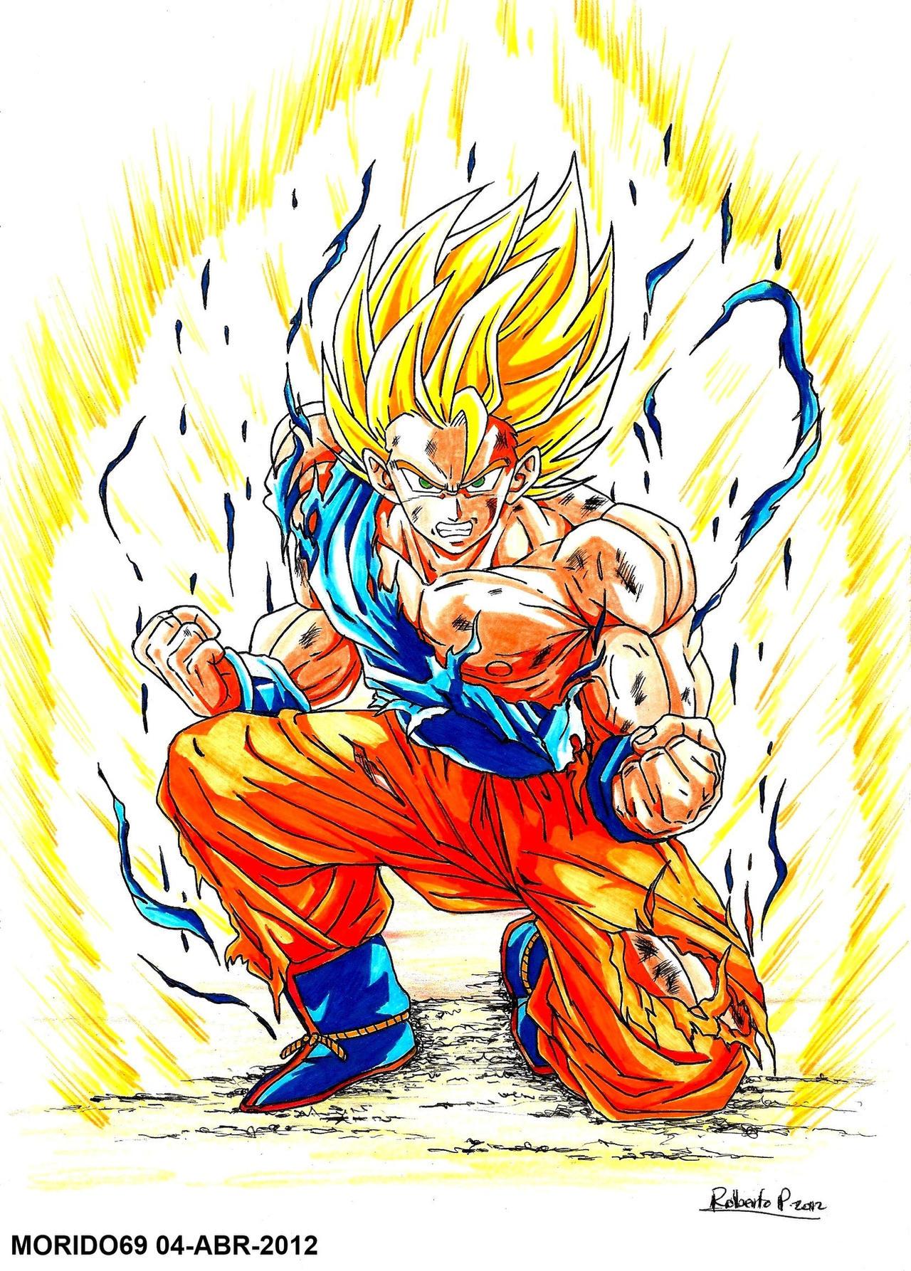 curiosidades Goku_super_saiyajin_dragon_ball_z__marker_color__by_muertito69-d4ykkk0