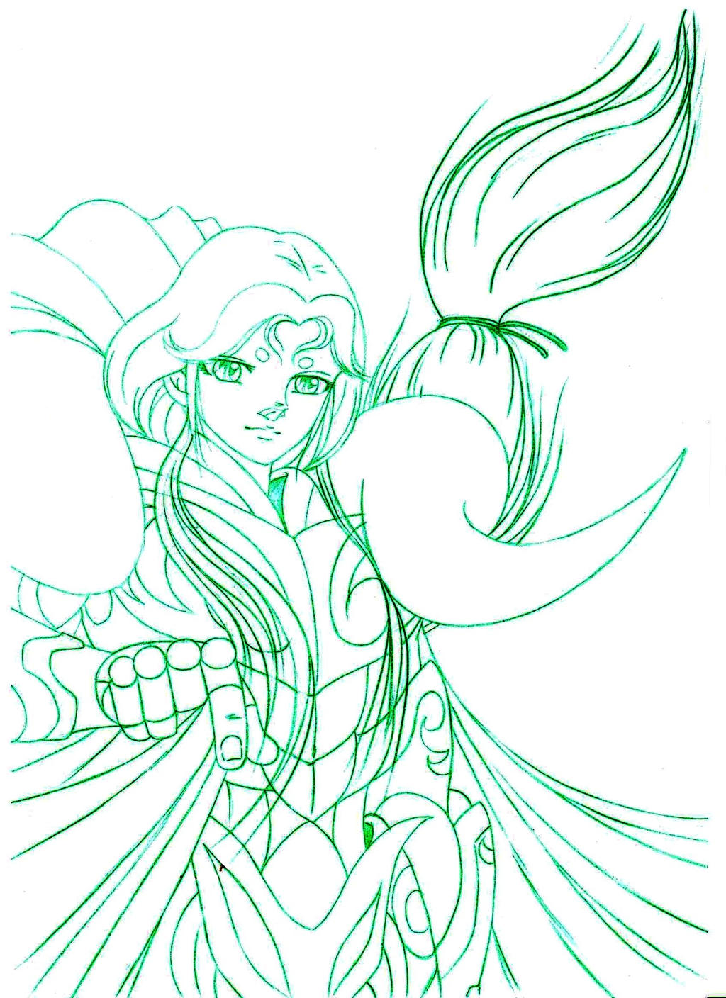 BOCETO MU DE ARIES-SAINT SEIYA by MUERTITO69