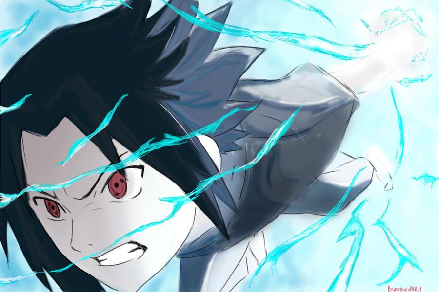 Sasuke Chidori by Bloody-Mary20 on DeviantArt