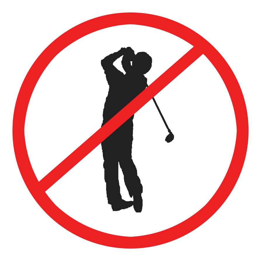 Image result for no golf