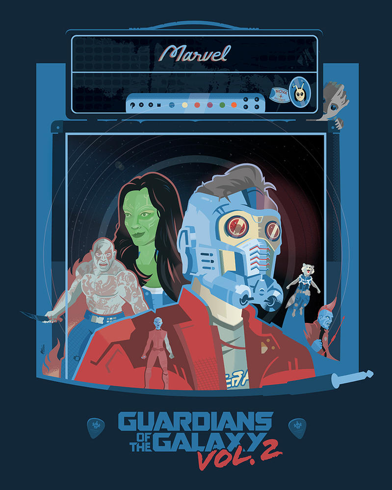 Guardians of the Galaxy Vol. 2 (Blue) by Jurassickevin