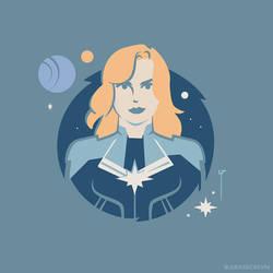 Carol Danvers (Kree Costume) by Jurassickevin