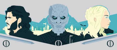 Game of Thrones Triptych (Combined Version) by Jurassickevin