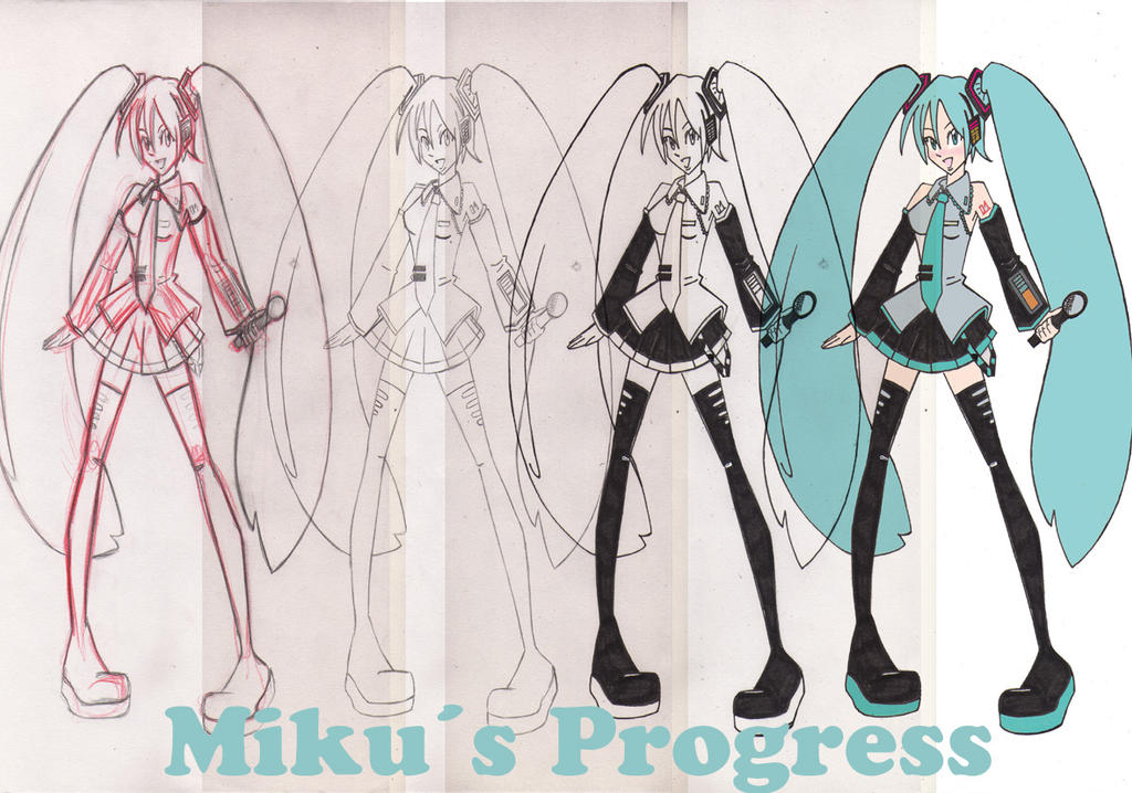 Miku Hatsune- Backstage by SweetAbril