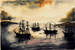 The Harbor- Watercolor