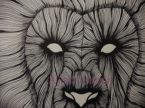 Abstract Lion Inked By Hedana On Deviantart