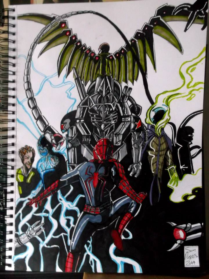 Spider-Man Vs The Sinister Six by samrogers on DeviantArt
