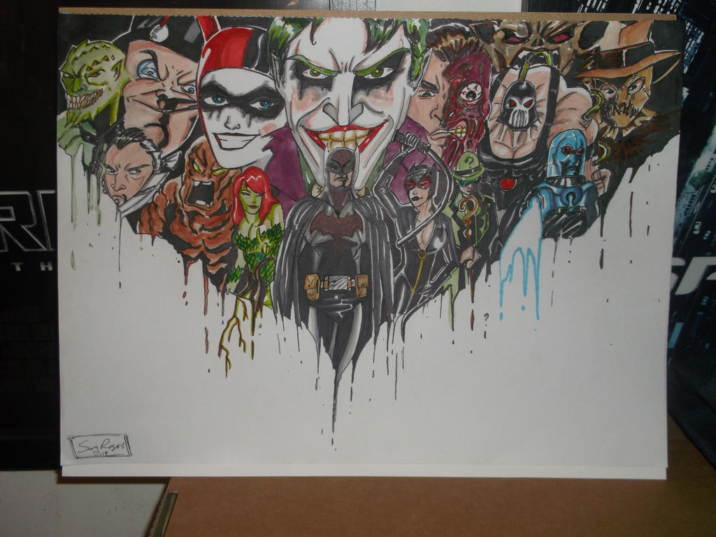 Batman And His Many Foes by samrogers