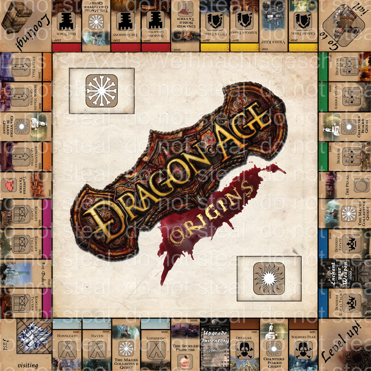 Dragon Age Monopoly by Sajenn