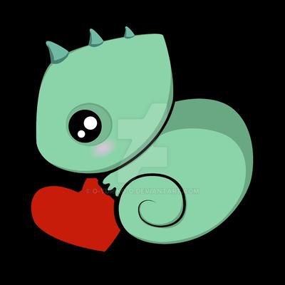 Baby chameleon by o-YuRiko-o