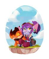 Dragon trainer Tristana by AninhaT-T