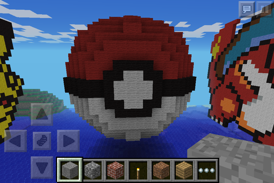 Minecraft 3d Pokeball Pixel Art By Bandit1030 On Deviantart