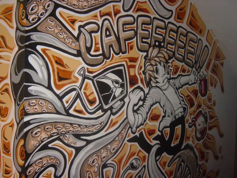CAFE (Mural) #2 by varo92