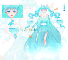 [closed] Adoptable Auction Water Goddess by Sapphire-B