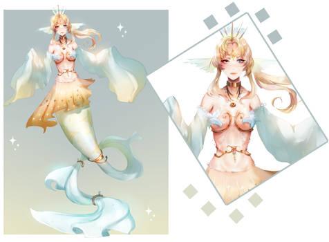 Mermaid design ADOPT OPEN SET PRICE