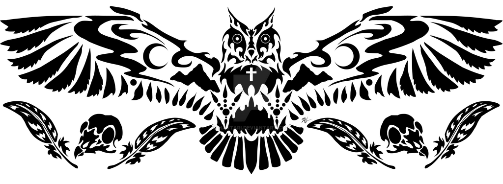 Owl Tattoo by Hantari