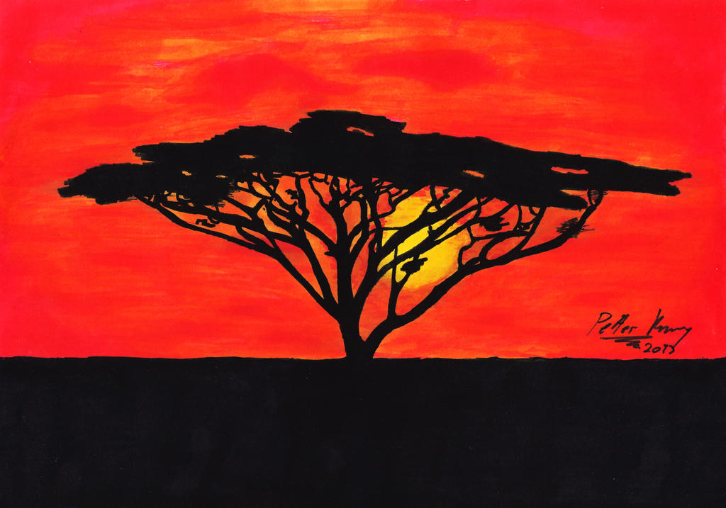 African Sunset By Octopriest