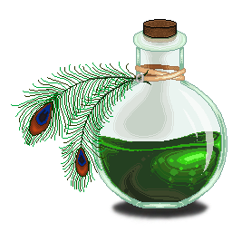 Poisonous Peacock Pixel Potion by LaJolly