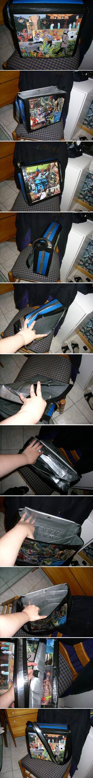 Ellen's duct tape bag