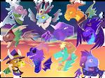 Some spyro dragons (Fan art)