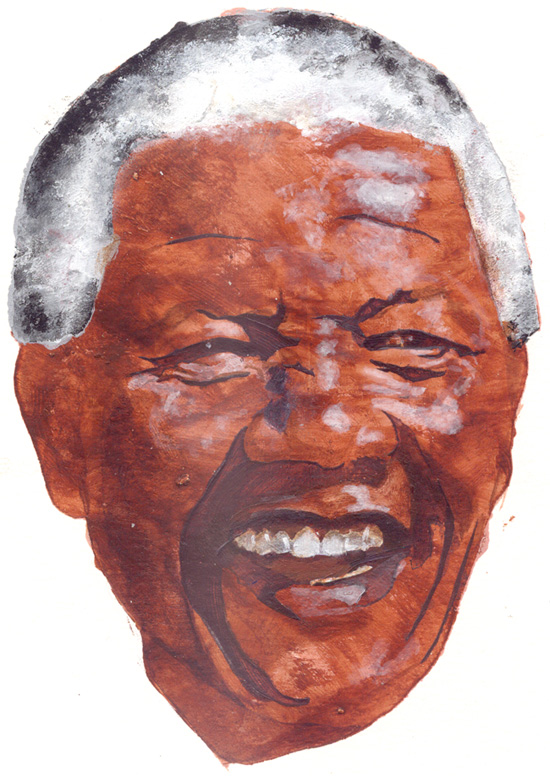 a pic of Nelson Mandela