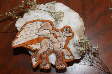Hand Embroidered Draecyon Patch by KVR0II