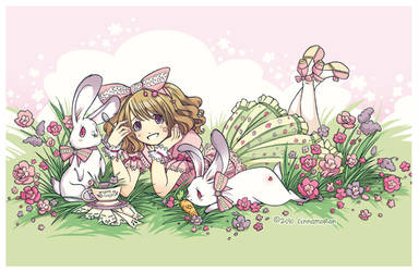 Bunny Tea by Cinnamoron