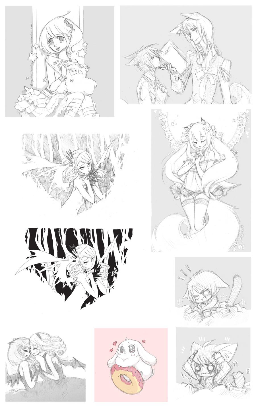 Sketch Dump by Cinnamoron
