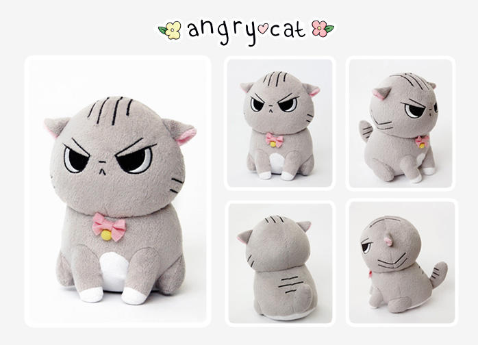 Angry Cat Plush!