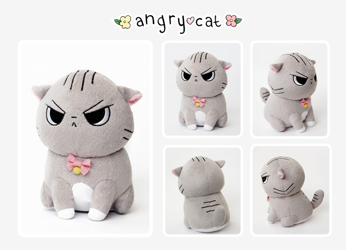 Angry Cat Plush! by Cinnamoron