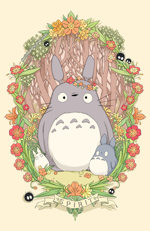 Flower Crown Totoro by Cinnamoron