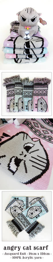 Angry Cat Scarf