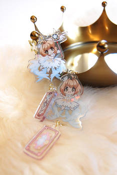 Clear Card Keychains