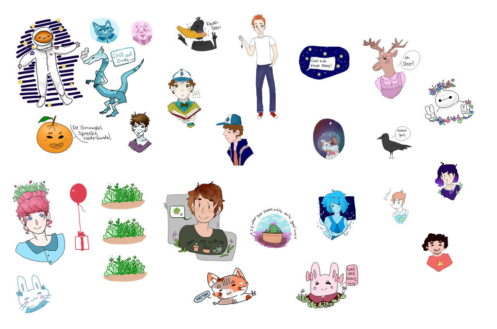 All stickers so far: by M4geOfSp4ce