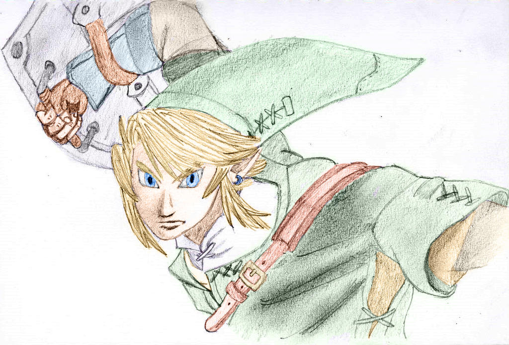 Link Twilight Princess Coloured by Deluxe0111