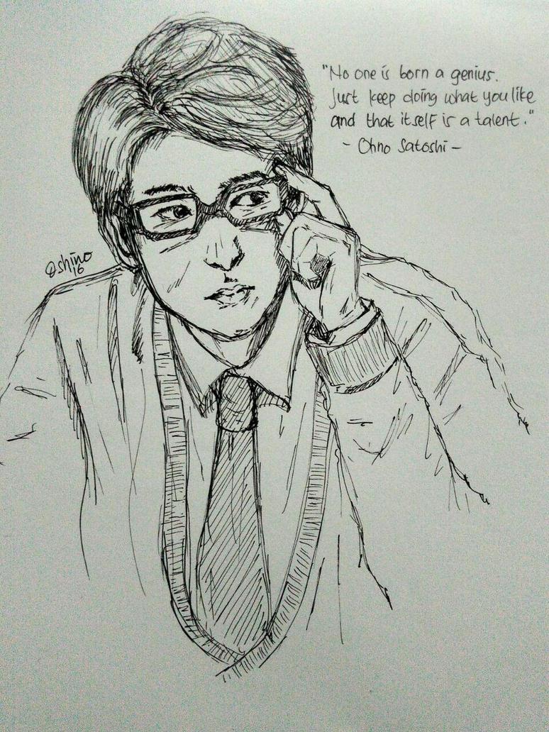 Enomoto Kei pen drawing by vampirevenge