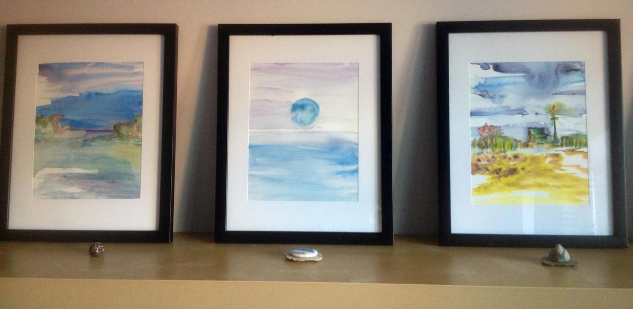 Watercolor paintings by ka-my