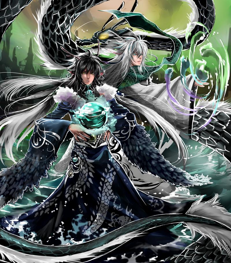 Dragon and Kilin by shrimpHEBY