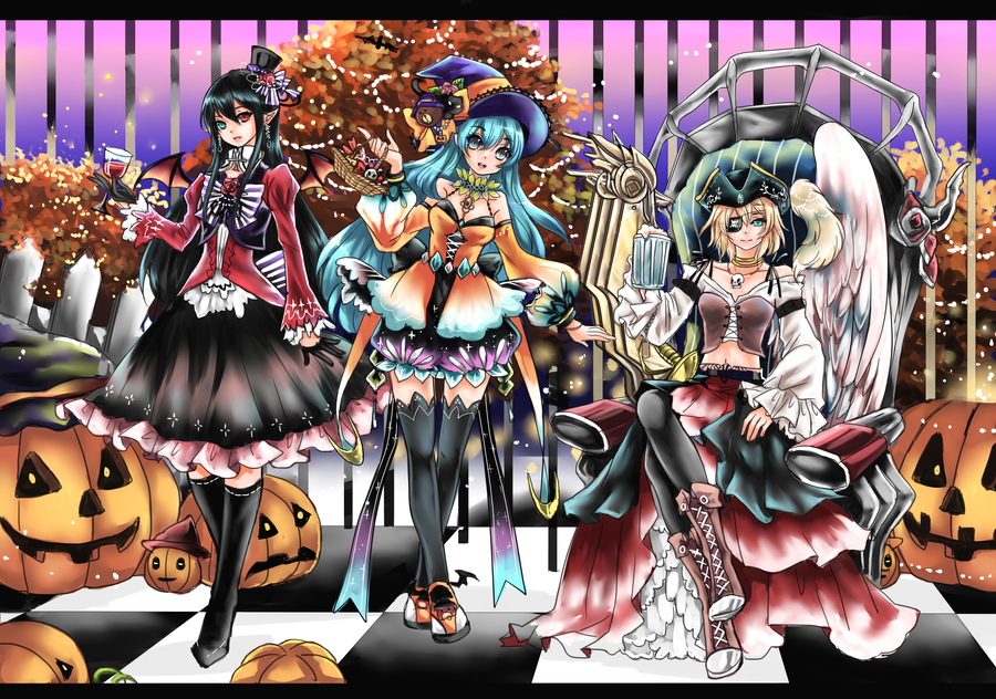 Halloween Trio by shrimpHEBY
