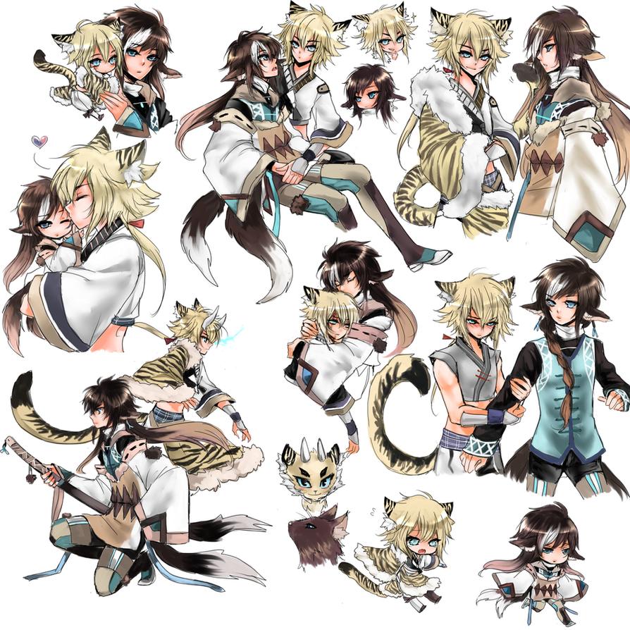 Koda And Kizuna Sketchpage by shrimpHEBY